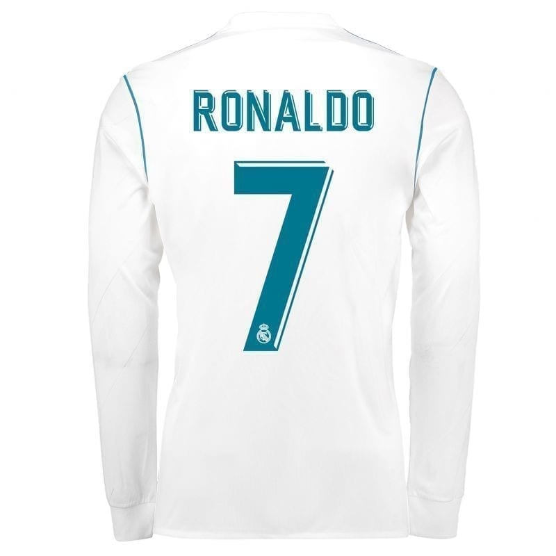 футболка роналдо реал мадрид длинный рукав