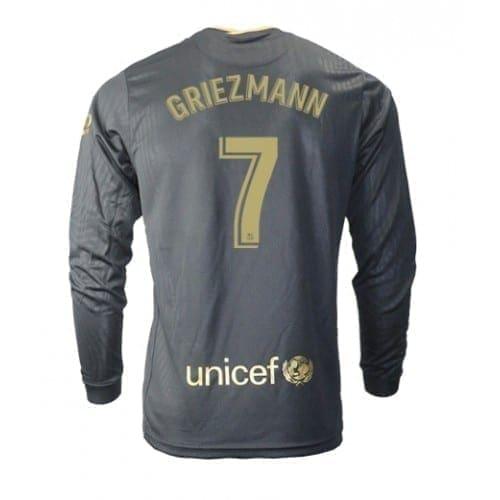 Чёрная гостевая футболка Гризманн 17 длинный рукав