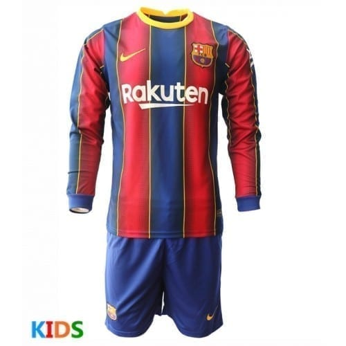 Детская форма Барселоны 2021 с длинными рукавами