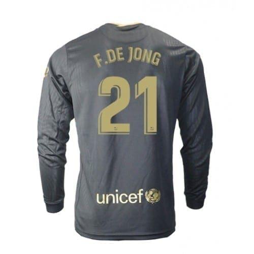 Чёрная гостевая футболка Фрэнки Де Йонг 21 длинный рукав