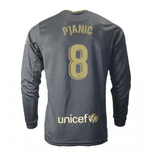 Чёрная гостевая футболка Пьянич 8 длинный рукав
