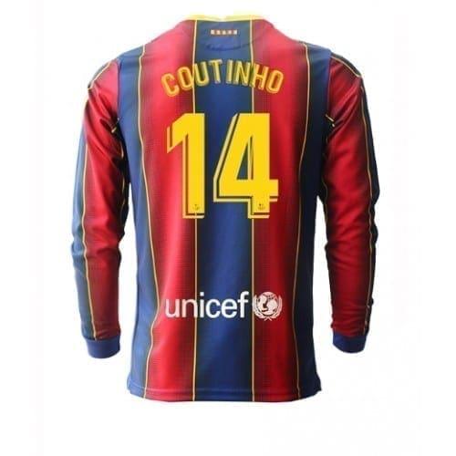 Футболка Коутиньо 14 Барселона 2020-2021 длинный рукав