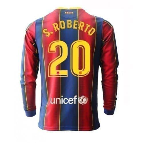 Футболка Серхио Роберто 20 Барселона 2020-2021 длинный рукав