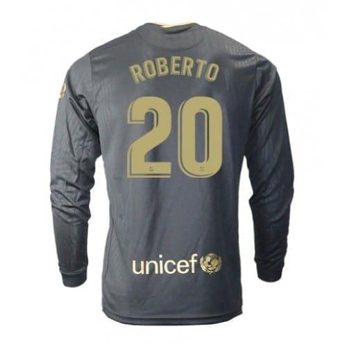 Чёрная гостевая футболка Серхио Роберто 20 длинный рукав