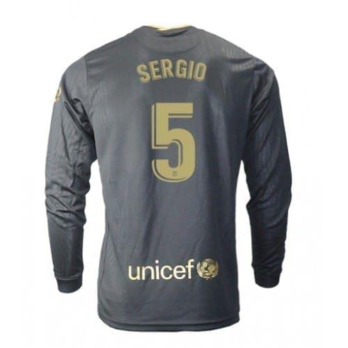 Чёрная гостевая футболка Серхио Бускетс 5 длинный рукав