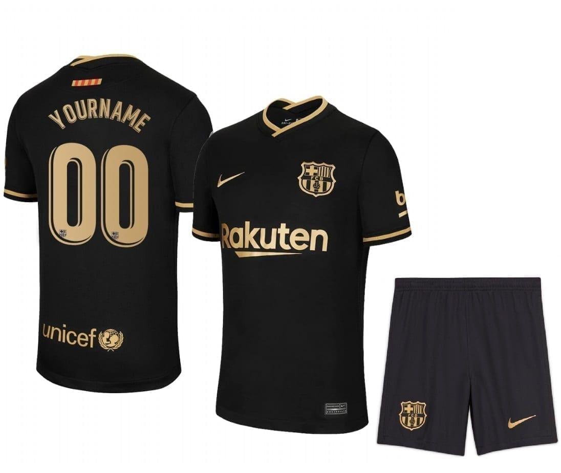 Комплект гостевой формы Барселона 2020-2021 с нанесением имени и номера