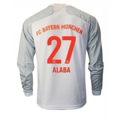 Белая футболка Баварии Алаба Длинный рукав 2020-2021