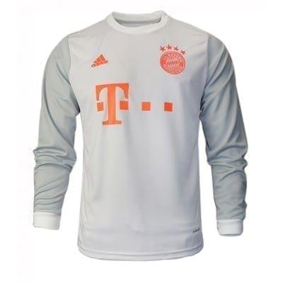 Белая футболка Баварии Серж Гнабри Длинный рукав 2020- 2021