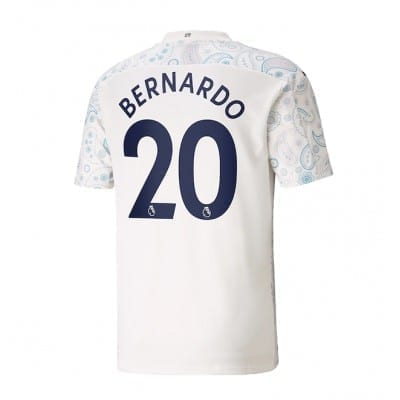 Белая футболка Бернарду Силва 2020-2021 Манчестер Сити
