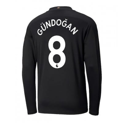 Чёрная футболка Гюндоган с рукавами 2020-2021