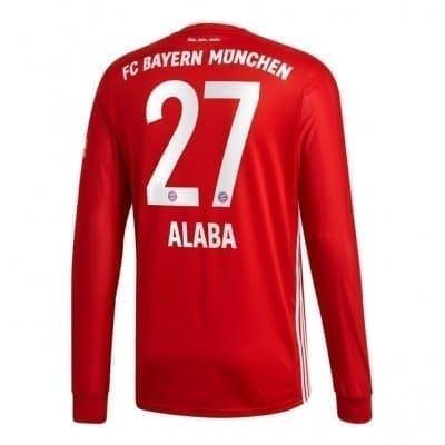 Домашняя футболка Алаба Бавария Мюнхен длинный рукав 2020-2021