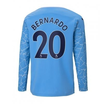Домашняя футболка Бернарду Силва длинный рукав 2020-2021