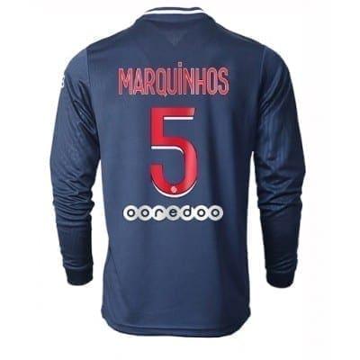 Домашняя футболка Маркиньос ПСЖ длинный рукав 2020-2021