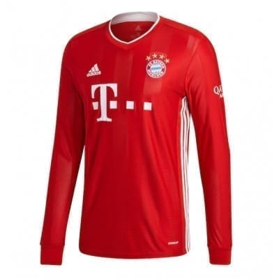 Домашняя футболка Серж Гнабри Бавария Мюнхен длинный рукав 2020- 2021