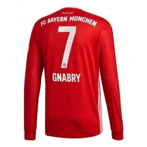 Домашняя футболка Серж Гнабри Бавария Мюнхен длинный рукав 2020-2021