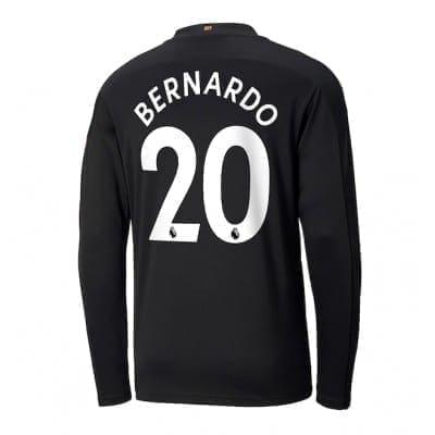 Чёрная футболка Бернарду Силва с рукавами 2020-2021