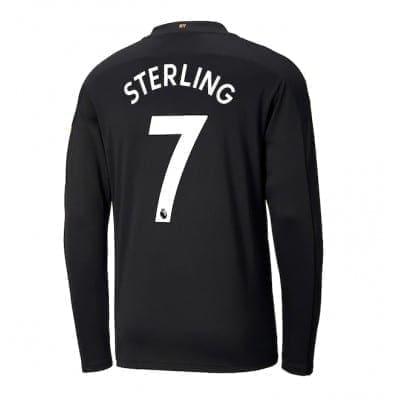 Чёрная футболка Стерлинг с рукавами 2020-2021