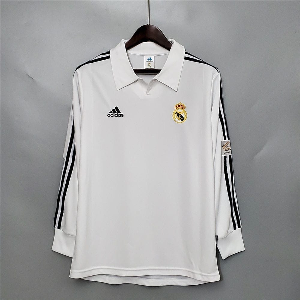 Ретро футболка Реал Мадрид 2001-2002 Длинный рукав
