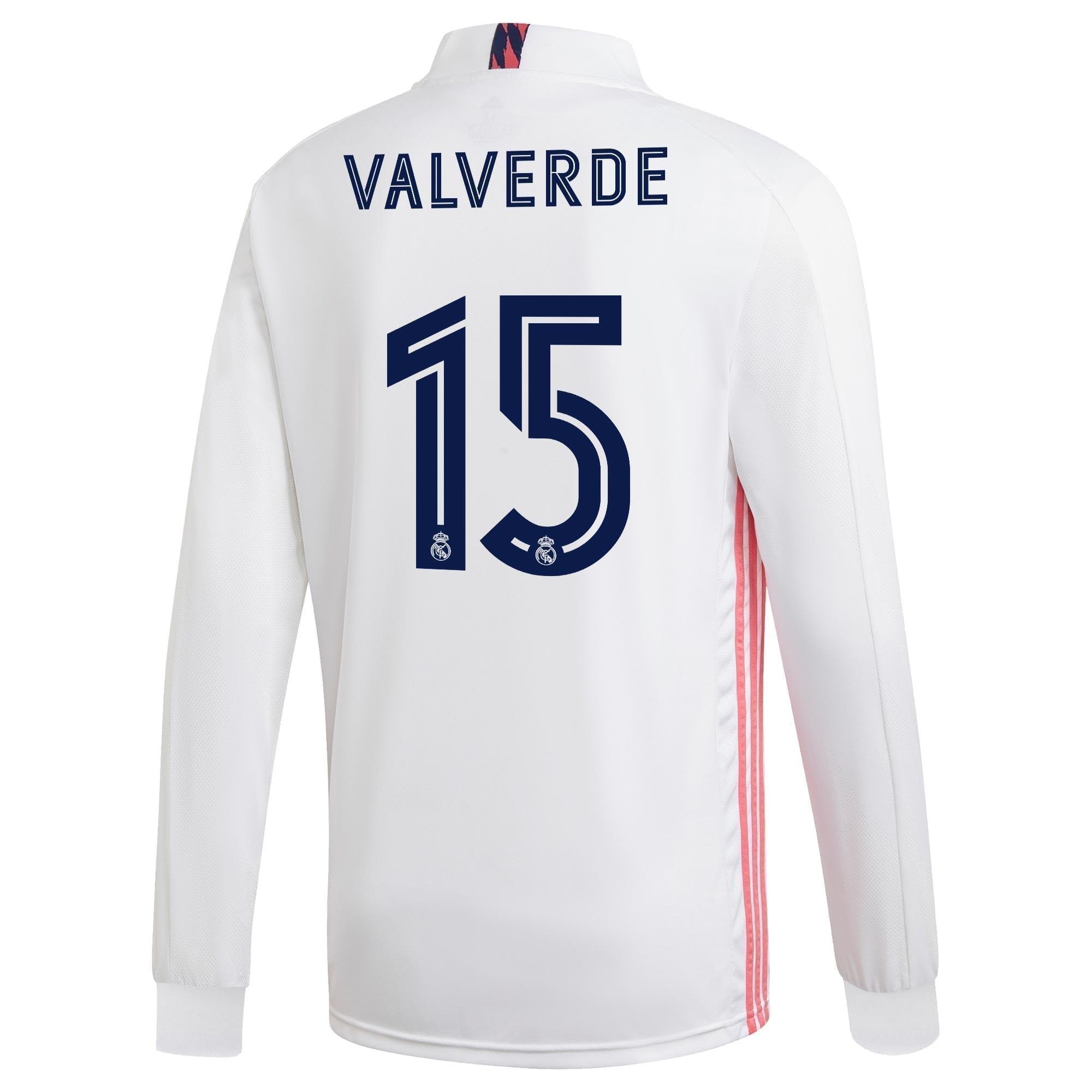 Футболка Реал Мадрид 2020-2021 Вальверде 15 длинный рукав