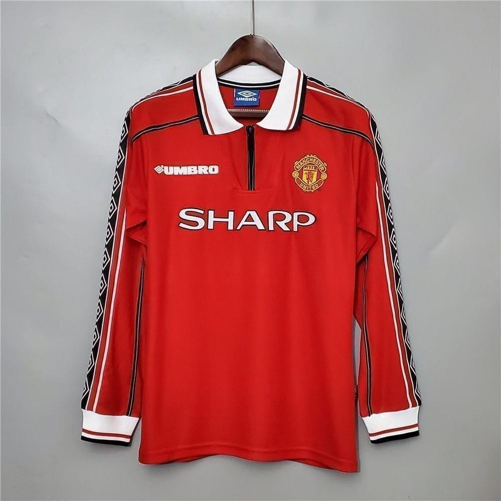 Ретро футболка Манчестер Юнайтед 1998-1999 длинный рукав