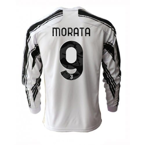 Домашняя футболка Мората Ювентус длинный рукав 2021