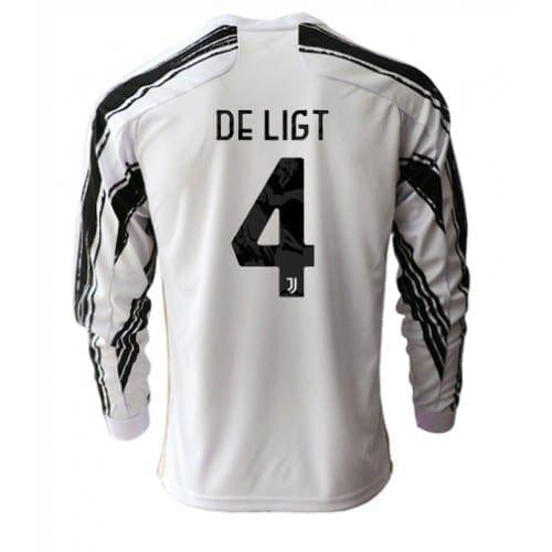 Домашняя футболка Де Лигт Ювентус длинный рукав 2021