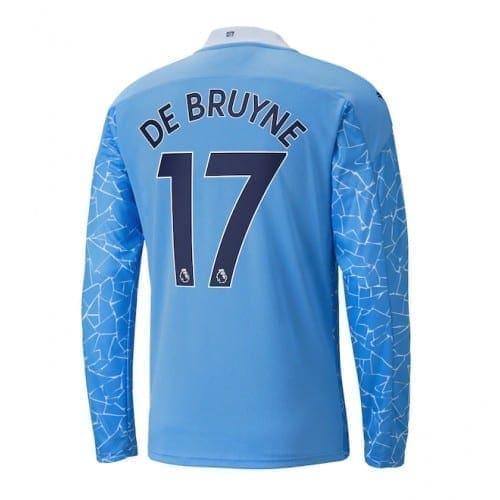 Домашняя футболка Де Брюйне длинный рукав 2020-2021