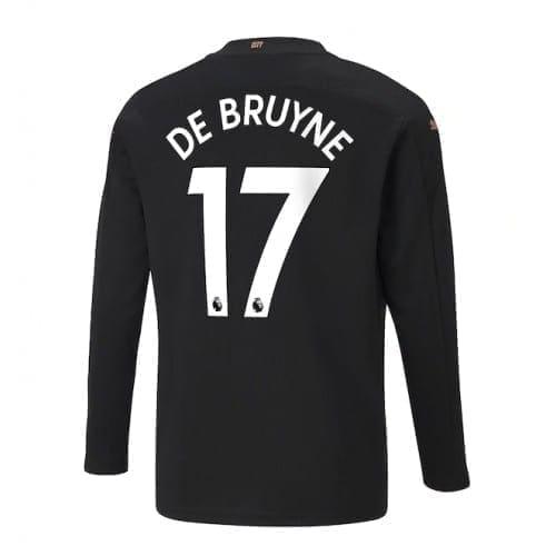 Чёрная футболка Де Брюйне с рукавами 2020-2021