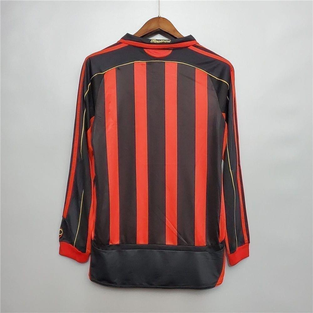 Ретро футболка Милан домашняя 2006-2007 Длинный рукав