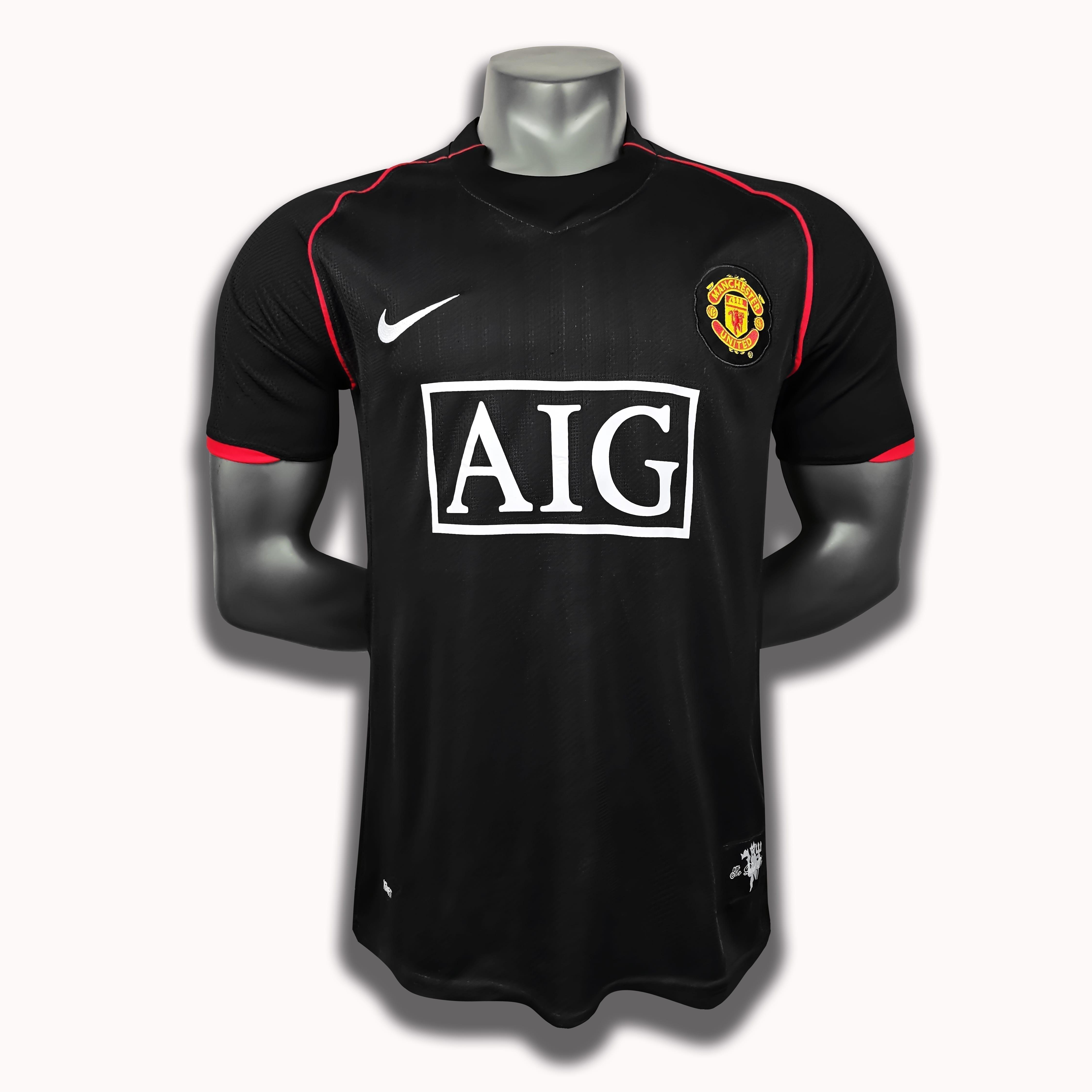 Ретро футболка Манчестер Юнайтед Чёрная 2007-2008
