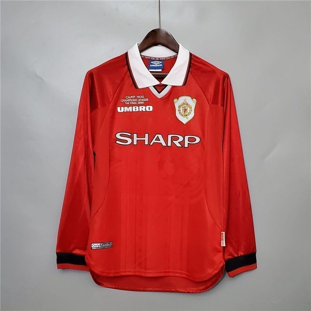 Ретро футболка Манчестер Юнайтед финал UCL 1999 длинный рукав
