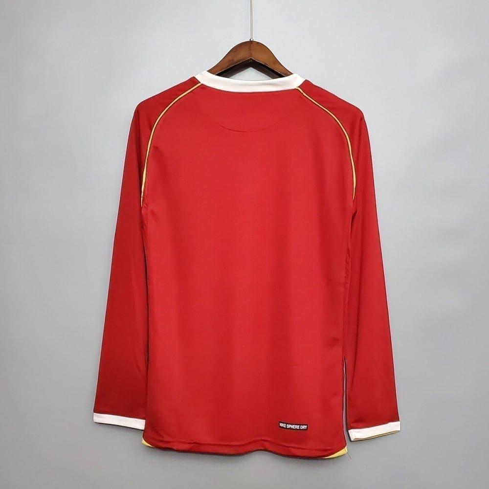 Ретро футболка Манчестер Юнайтед 2006-2007 длинный рукав