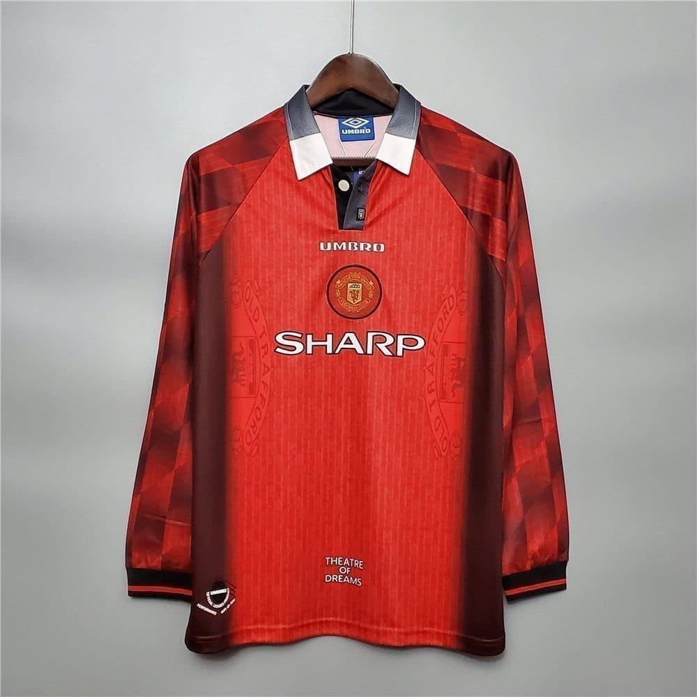 Ретро футболка Манчестер Юнайтед 1996-1997 длинный рукав