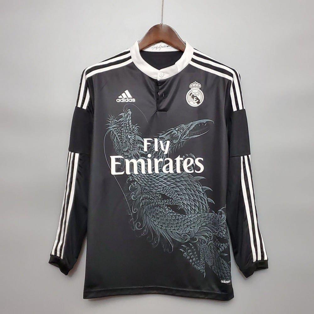 Ретро третья футболка Реал Мадрид 2014-2015 Длинный рукав