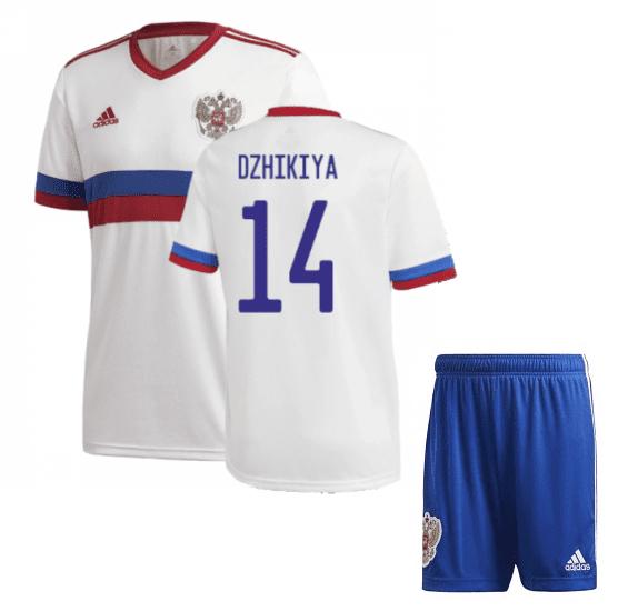 Белая футбольная форма Россия Джикия Евро 2020