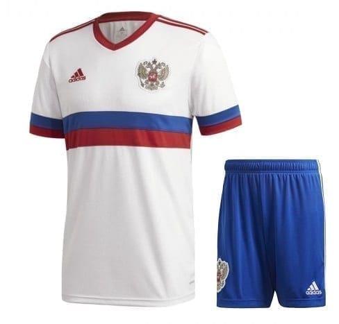 Белая футбольная форма Россия с нанесением Вашего имени Евро 2020