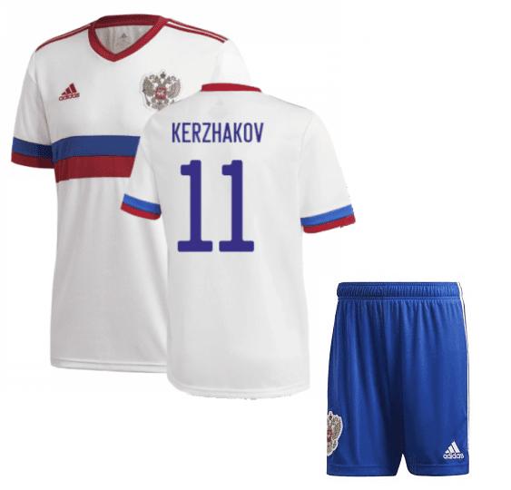 Гостевая детская форма Россия Кержаков Евро 2020