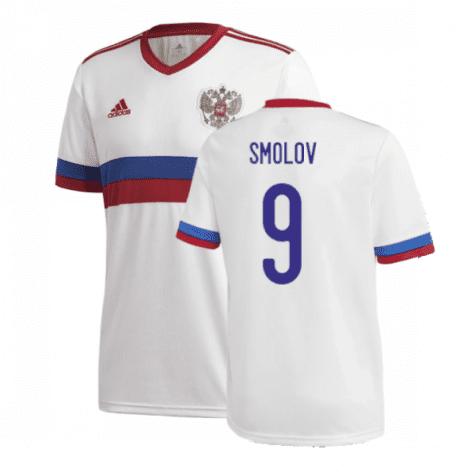Гостевая футболка Смолов Россия Евро 2020
