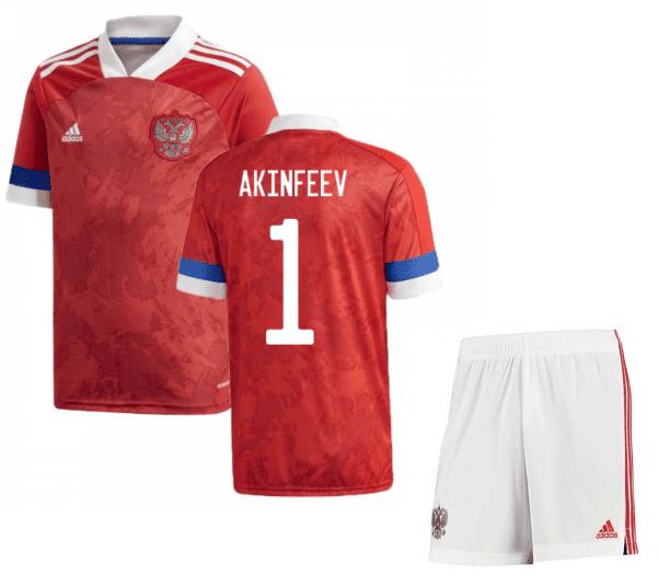Футбольная форма России Акинфеев 1 Евро 2020