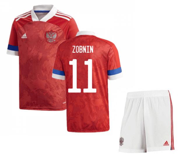 Футбольная форма России Зобнин 11 Евро 2020
