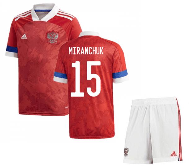 Футбольная форма России Миранчук 15 Евро 2020