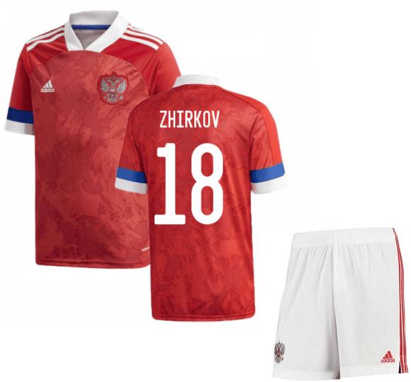 Футбольная форма Россия Жирков 18 Евро 2020