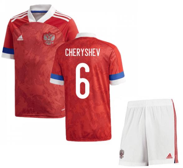 Футбольная форма России Черышев 6 Евро 2020
