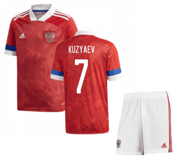 Футбольная форма России Кузяев 7 Евро 2020