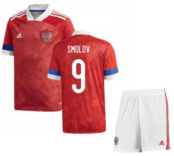 Футбольная форма России Смолов 9 Евро 2020