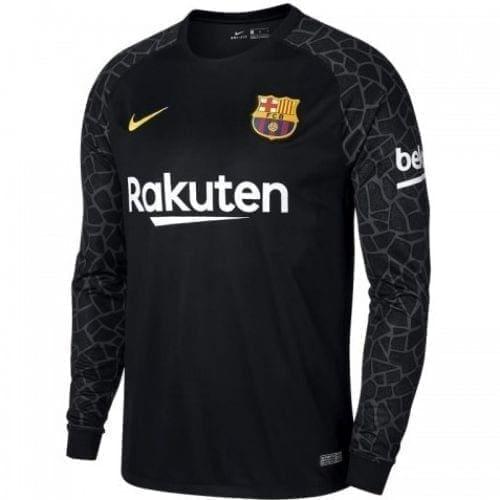 Вратарская футболка Барселона чёрная 2020-2021