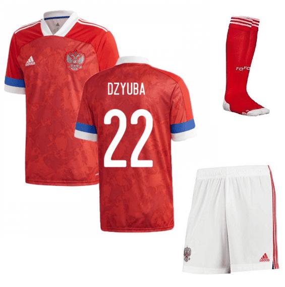 Домашняя футбольная форма Россия Дзюба