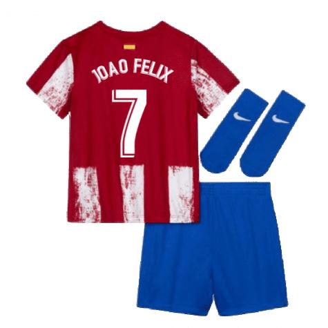 Детская форма Атлетико Мадрид 2021-2022 Жао Феликс 7 с гетрами