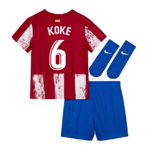 Детская форма Атлетико Мадрид 2021-2022 Коке 6 с гетрами