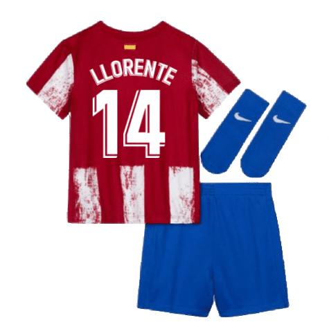 Детская форма Атлетико Мадрид 2021-2022 Льоренте 14 с гетрами